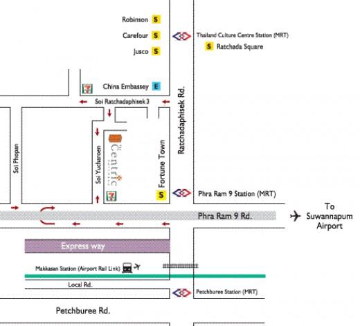 The Centric Ratchada 502/29 Soi Yucharoen, Asoke-Dindaeng Rd., Dindang, Bangkok 10400