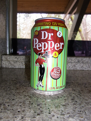 Dr. Pepper with real sugar.