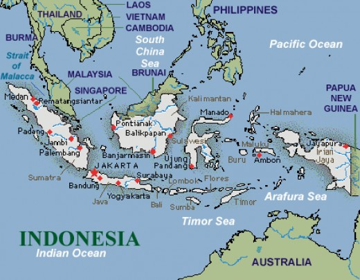 Indonesia is near to Australia and Singapore
