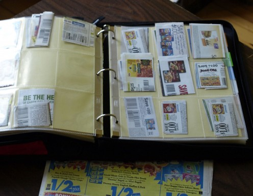 Being organized can make using coupons much more efficient