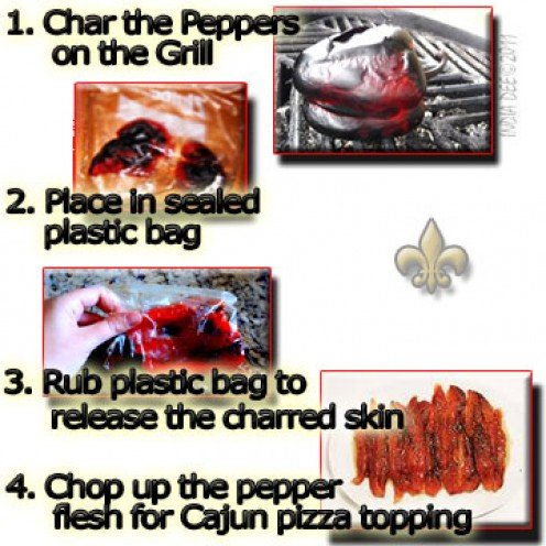 Tips on how to roast a red bell pepper on the grill!
