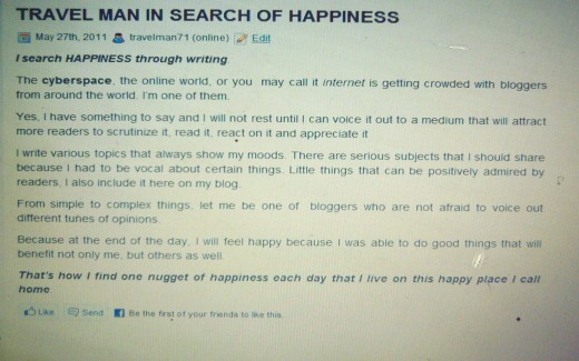Finding Happiness by Travel Man