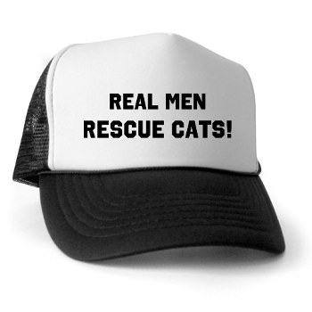 Get your own cap and tell the world that Real Men Rescue Cats! All proceeds go to help us help cats.