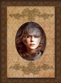 Nicole Kidman in a custom vintage frame