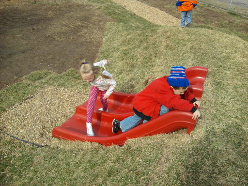 Test out the preschool's playground!