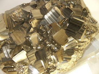Raw iron pyrite specimen.