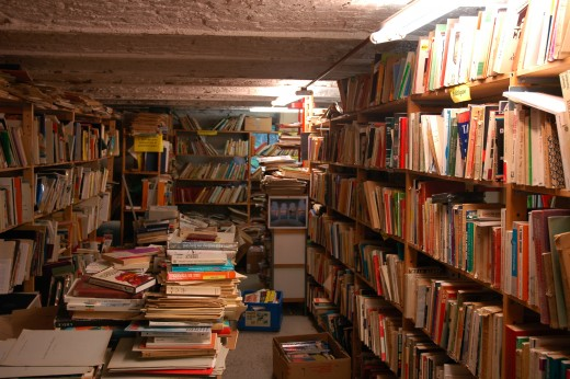 A bookshop in Redu, Belgium