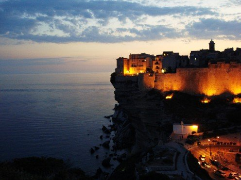 Bonifacio, Corsica, France by night