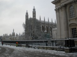 King's College Chapel and Senate House in the snow