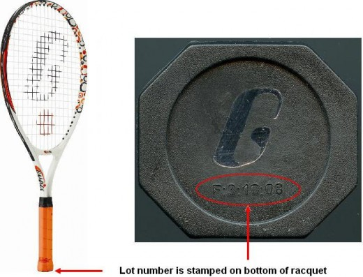 CHINA | GAMMA Sports Recalls Children's Tennis Racquets Due to Risk of Lead Exposure on the orange handle tape. Check identification on bottom of racket.