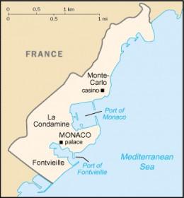 Map location of Monaco