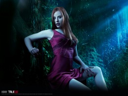 Vampires Bill Compton (Stephen Moyer) and Jessica Hamby (Deborah Ann Woll)