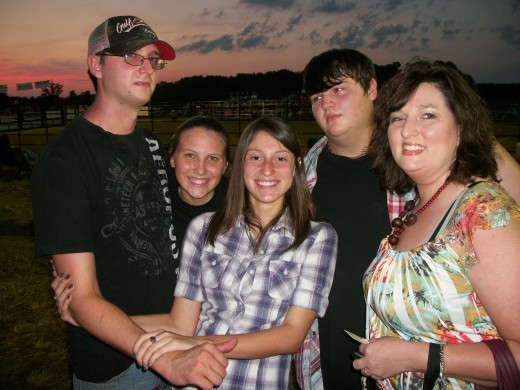 Drake Oliver & his fiancee Ashley Webb (my oldest son) Breanna Cochran, Austin Oliver (my younger son) & my wife..Isn't she pretty. Please don't use without permission