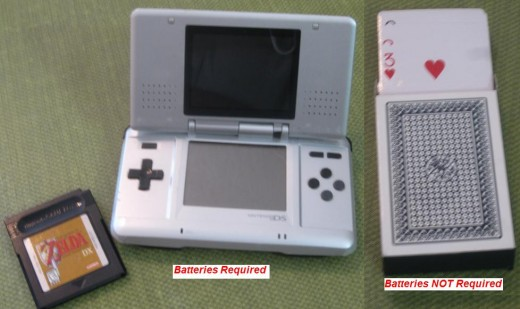 Pocket Electronic Game System and Deck of Cards