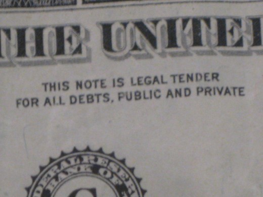 Fiat money is legal tender by order of the government