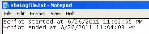 vbscript log file