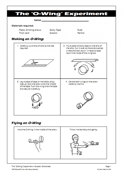 "An explanantion of how to make the ""O-Wing"" Glider."
