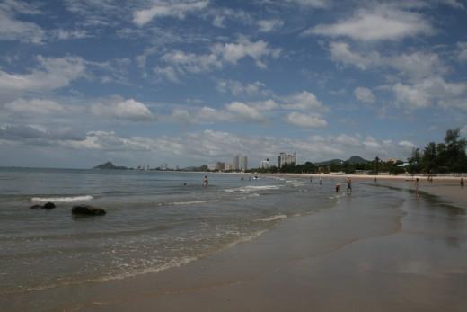 The beautiful sandy beach