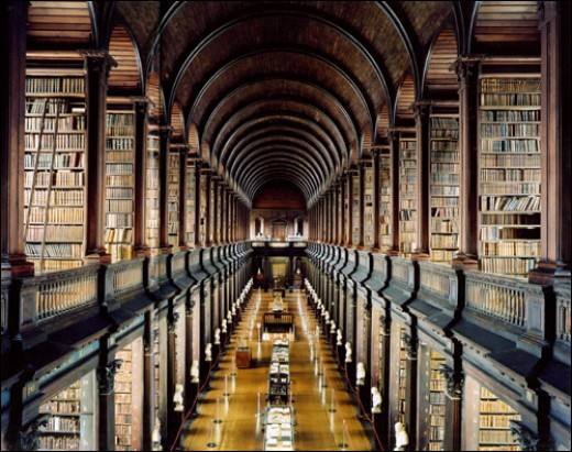 I wouldn't mind living here: Trinity College Library, Dublin.