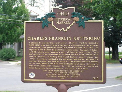 Charles F. Kettering, born near Loudonville.