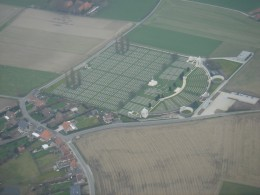 Aerial view of Tyne Cot