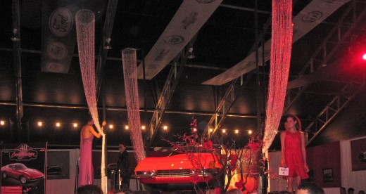 The fashion show at the Opening Night Gala for the Barrett-Jackson Auto Auction in Orange County, CA.