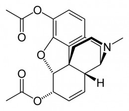 Molecular structure of Heroin