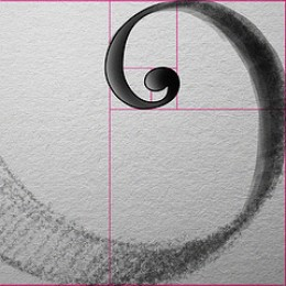 Golden section in a spiral