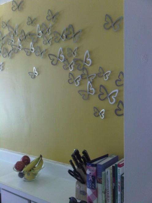 butterflies taking flight