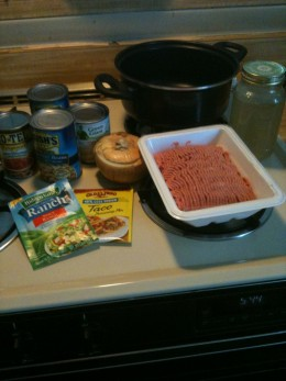 Ingredients for a terrific Taco Soup