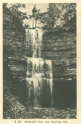 1936 Postcard Showing Buttermilk Falls.