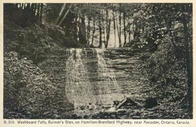Vintage Postcard of Washboard Falls.