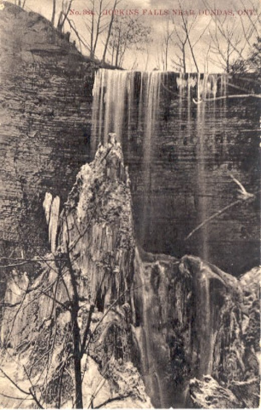 1907 Winter Postcard calls this Hopkins Falls. Now it is called Tews Falls.