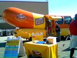 """Oh, I wish I were an Oscar Meyer Weiner..."" Sometimes fun stuff happens in small towns. Though I was shocked Oscar Meyer knew we were even on the map.   (Cambridge, MN)"