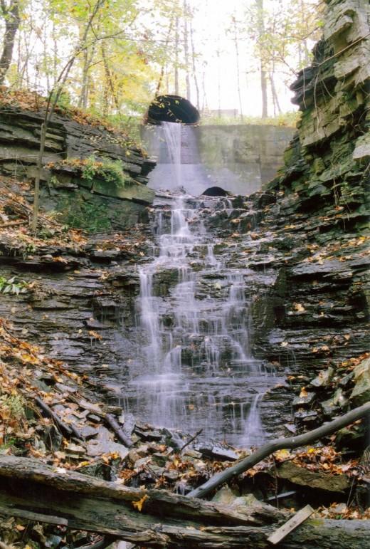 Upper Sanatorium Falls as it looks today.