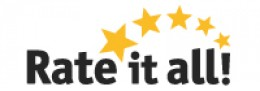 rateitall website logo. Consumer review networking site for wine, food and other consumer welfare advocacy.