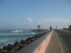 Male sea-side - a long strech good for walkers