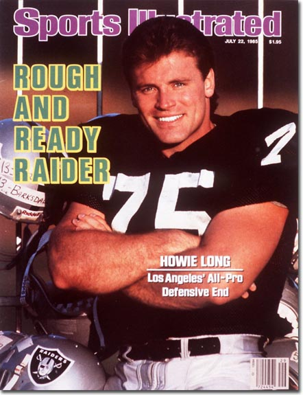 Howie Long with a mullet - Sports Illustrated Cover