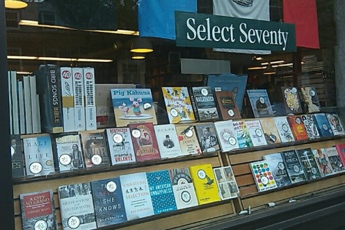 The Select Seventy are displayed in the front window and on a shelf by the registers. Make sure you check which titles are there as they are all 20% off!