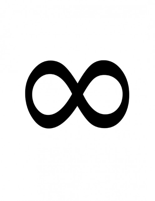 Mathematical symbol signifying infinity in number, time, or space.In India and Tibet, it is the representation of perfection, dualism, and unity between male and female. In the occult it stands for equilibrium of various forces.