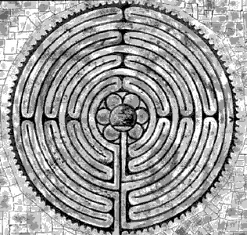 For Native Americans, the labyrinth serves to represent birth and rebirth/transition from one world to the next. Philosophically, the meaning is as complex as the symbol itself. Other meanings: passage of time, enlightenment, initiation and progress.