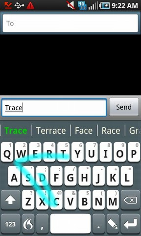 Flex T9 Speak-Trace-Write-Tap by Nuance, a quad-mode keyboard for Android