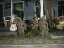 Images of the Thai Culture Near the Pier