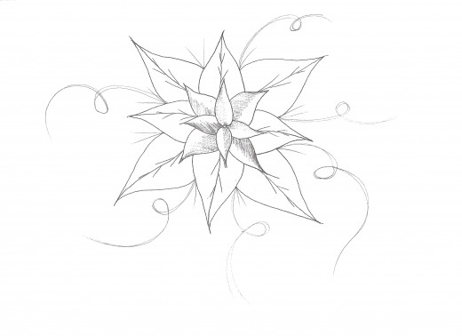 how to draw cool easy flowers