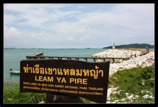 Sign for Khao Laem Ya National Park