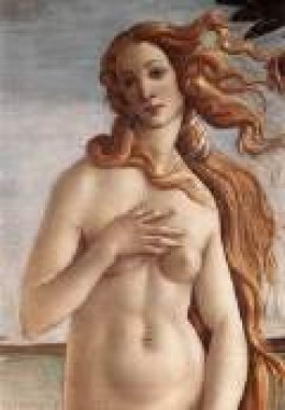 A detail from The Birth of Venus