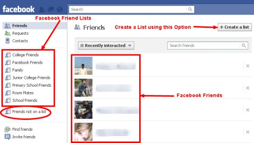 Create a Facebook Friend Lists