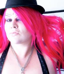 """Sarah Jezebel Deva looking """"pretty in pink""""."""