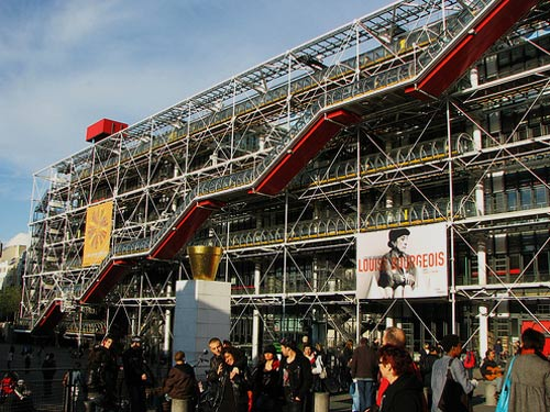 Side of the Centre Georges Pompidou