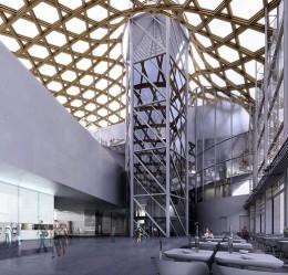 Inside the Centre Pompidou